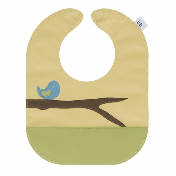 bird leather bib >