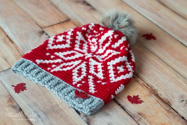 chinook toque by whistle and ivy with Mission Leather Supply applique