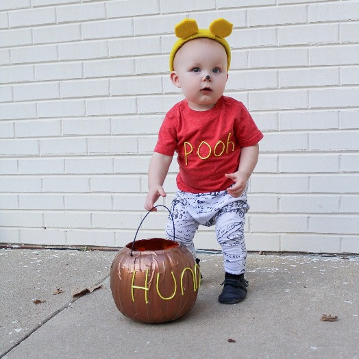 Mally Mocs Halloween Contest - Pooh with black mally mocs