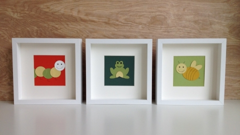 art cards, neutral nursery decor