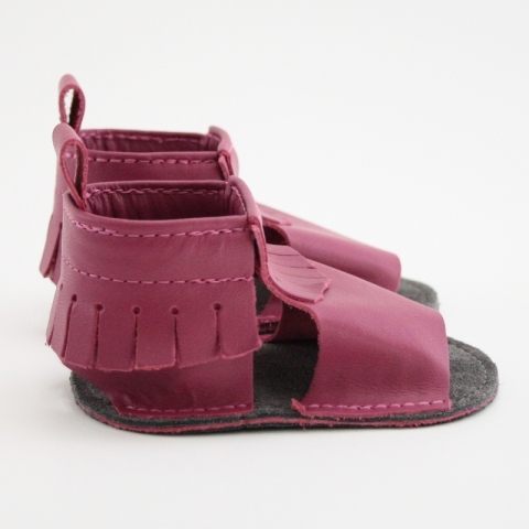 bumbleberry mally mocs sandals with fringe