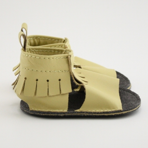 butter mally mocs sandals with fringe