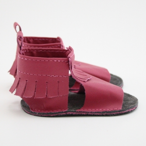mally mocs sandals with fringe