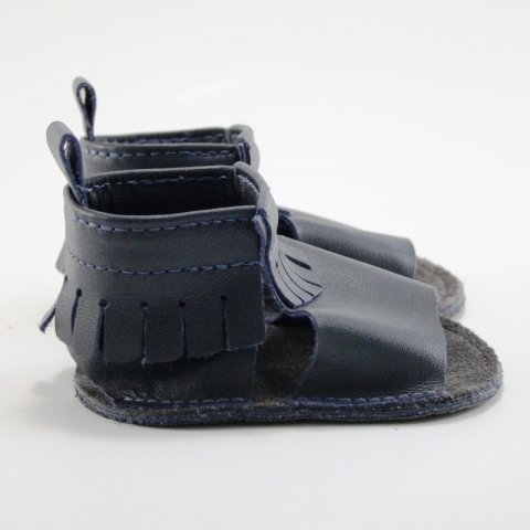 midnight mally mocs sandals with fringe