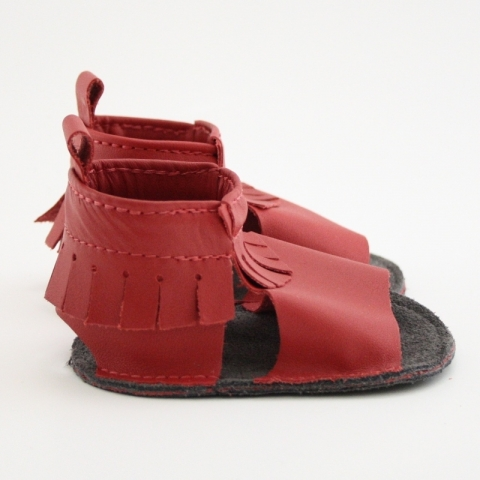 poppy mally mocs sandals with fringe