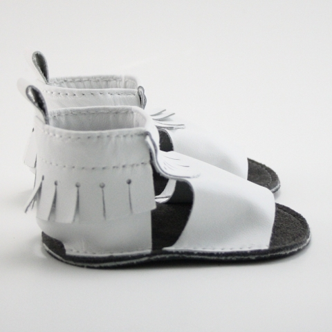 snowflake mally mocs sandals with fringe