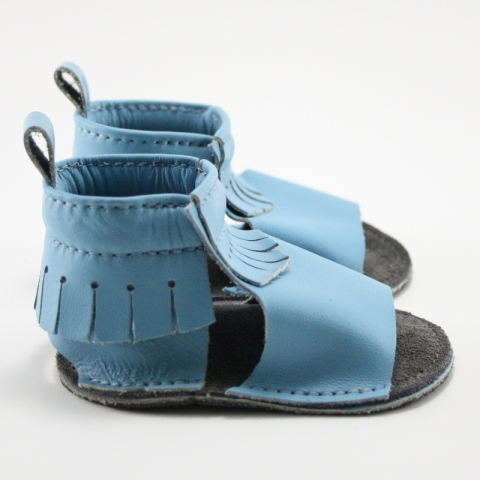 sky mally mocs sandals with fringe