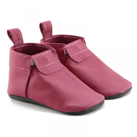 mally mocs - fuchsia with no fringe
