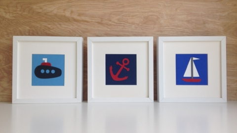art cards, nautical themed wall decor
