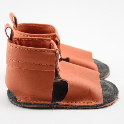 tangerine mally mocs sandals with no fringe