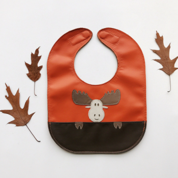 Moose leather bib