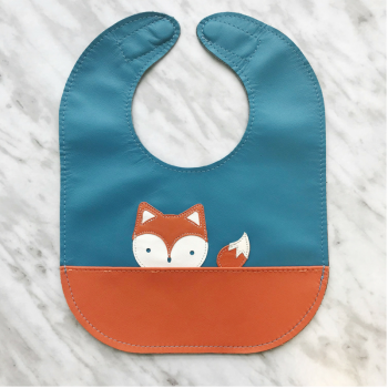 Fox leather bib