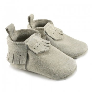 Birch Lux Suede Mally Mocs With Fringe