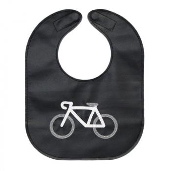 monochrome bicycle toddler bib