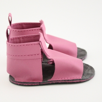 bubblegum mally mocs sandals with no fringe