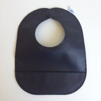 mally bibs solid leather bib - black