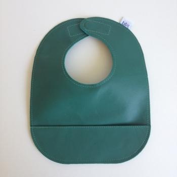 mally bibs solid leather bib - evergreen