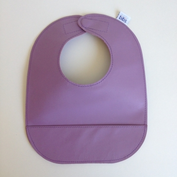 mally bibs solid leather bib - lilac