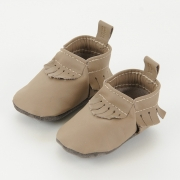 light brown leather baby moccasins baby mocs