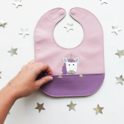Mally Bibs Unicorn Leather Baby Bib