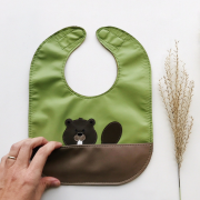 Beaver leather bib
