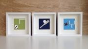 art cards, boys sports themed wall decor