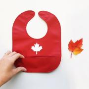 Canadian Maple Leaf Leather Bib