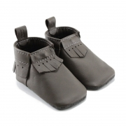 dark brown leather baby moccasins