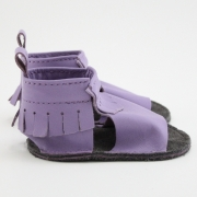 blueberry mally mocs sandals with fringe