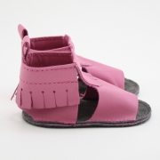 bubblegum mally mocs sandals with fringe