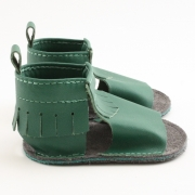 evergreen mally mocs sandals with fringe