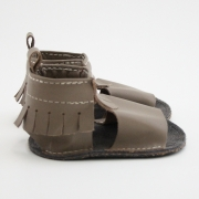 latte mally mocs sandals with fringe