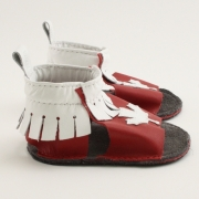 maple leaf mally mocs sandals with fringe