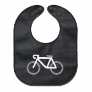 monochrome bicycle baby bib