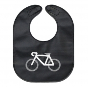 monochrome bicycle toddler bib