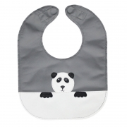 monochrome panda baby bib