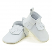 newborn mally mocs - snowflake with fringe