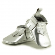 silver newborn mally mocs