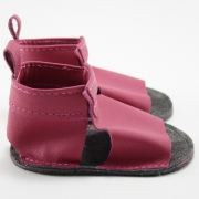 fuchsia mally mocs sandals with no fringe