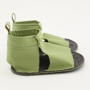 lime mally mocs sandals with no fringe