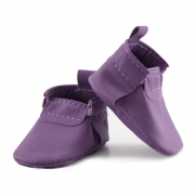 newborn mally mocs - orchid with no fringe