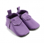 orchid leather baby moccasins
