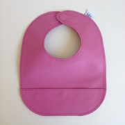 mally bibs solid leather bib - bubblegum