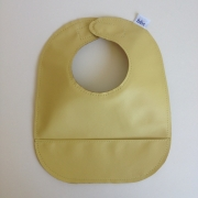 mally bibs solid leather bib - butter