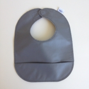 mally bibs solid leather bib - elephant