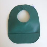 mally bibs solid leather bib - evergreen