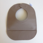 mally bibs solid leather bib - latte