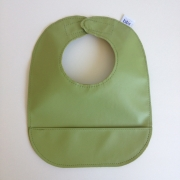 mally bibs solid leather bib - lime