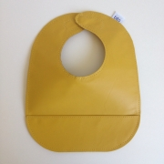 mally bibs solid leather bib - mustard
