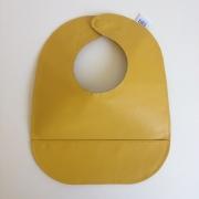 mally bibs solid leather bib - mustard